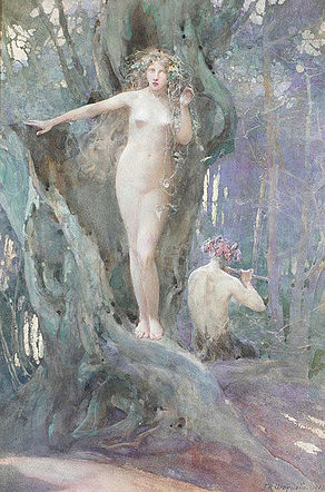 John Reinhard Weguelin – The Magic of Pan's Flute (1905).jpg