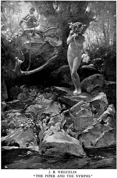 File:John Reinhard Weguelin – The Piper and the Nymphs (1897).jpg