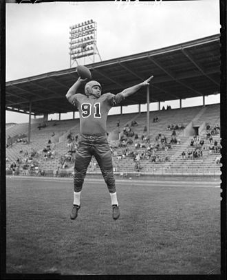 John Mazur - Mazur in 1954 with the BC Lions