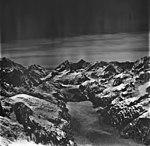 Johns Hopkins Glacier, tidewater glacier terminus and mountain glaciers, June 21, 1978 (GLACIERS 5523).jpg