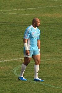 Lomu con la maglia del Marsiglia, 2009