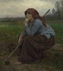 Young Peasant Girl with a Hoe