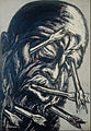 José Clemente Orozco - Head Pierced with Arrows, from the Los teules series - Google Art Project.jpg