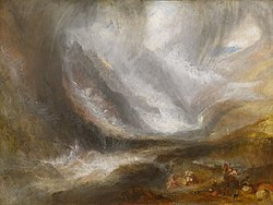 Joseph Mallord William Turner - Valley of Aosta, Snowstorm, Avalanche, and Thunderstorm - 1947.513 - Art Institute of Chicago.jpg