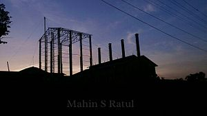 Joypurhat District - Joypurhat sugarmill at dusk