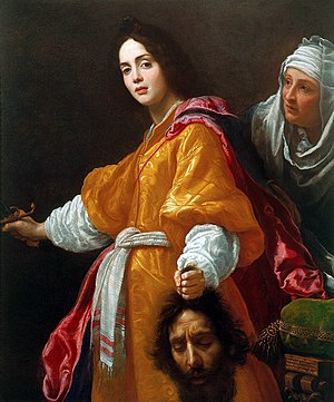 Judith (oratorio) - Oil on canvas painting by Cristofano Allori depicting Judith after beheading Holofernes to liberate her countrymen.