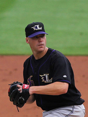 Justin Lehr - Lehr with the Louisville Bats