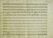 notový zápis Requiem od W. A. Mozarta