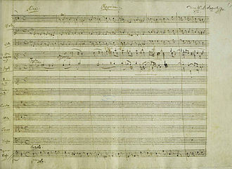 Requiem (Mozart) - The first page of Mozart's autograph score