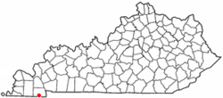 Location of Hazel, Kentucky