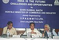 "Kamal Nath delivering a keynote address at the MMTC sponsored public lecture on the theme of "" India is the Future Challenges and Opportunities"" organised by the Indian Institute of Public Administration (IIPA). in New Delhi.jpg"