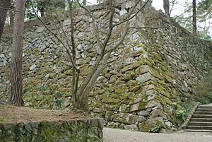 Kameyama Castle (Kyoto) - Stone wall of Kameyama Castle