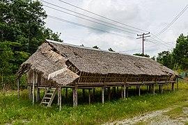 Dusun longhouse at sabah museum