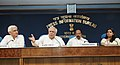 Kapil Sibal, Dr. M. Veerappa Moily and Shri Salman Khurshid addressing a press conference on the meeting of the Lokpal Bill, in New Delhi. The Principal Director General (M&C), Press Information Bureau.jpg