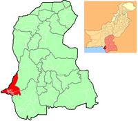 Location of Karachi in Sindh and in Pakistan
