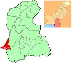 Localização de Carachi em Sind e no Paquistão