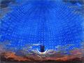 Karl Friedrich Schinkel Die Sternenhalle der Königin der Nacht Bühnenbild Zauberflöte Mozart.tif