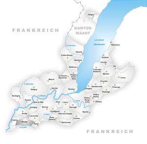 Avusy - Image: Karte Gemeinde Avusy