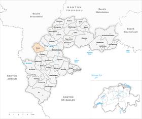 Karte Gemeinde Tuttwil 1968