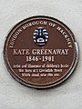 Kate Greenaway 1846-1901 artist and illustrator of children's books was born at 1 Cavendish Street which stood near this site.jpg