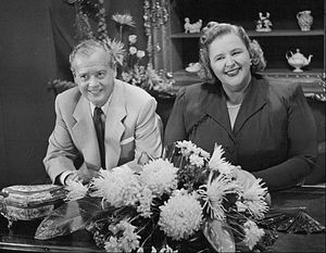 Kate Smith - Smith and Ted Collins on her television show (1953)