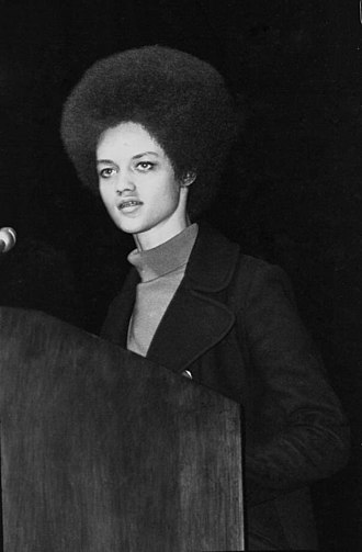 Kathleen Cleaver - Kathleen Cleaver delivering a speech in Ruby Diamond Auditorium at Florida State University, November 1971.