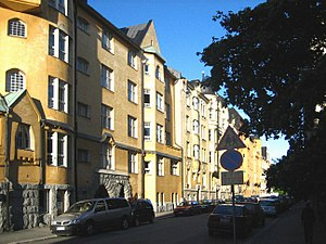 Katajanokka - Housing cooperatives built around 1902 in the popular Jugendstil style.