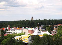Kaustinen during the Kaustinen Folk Music Festival