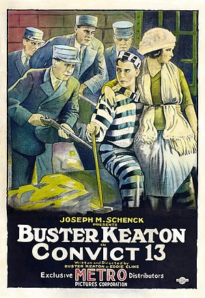 Buster Keaton - Poster for Convict 13 (1920)