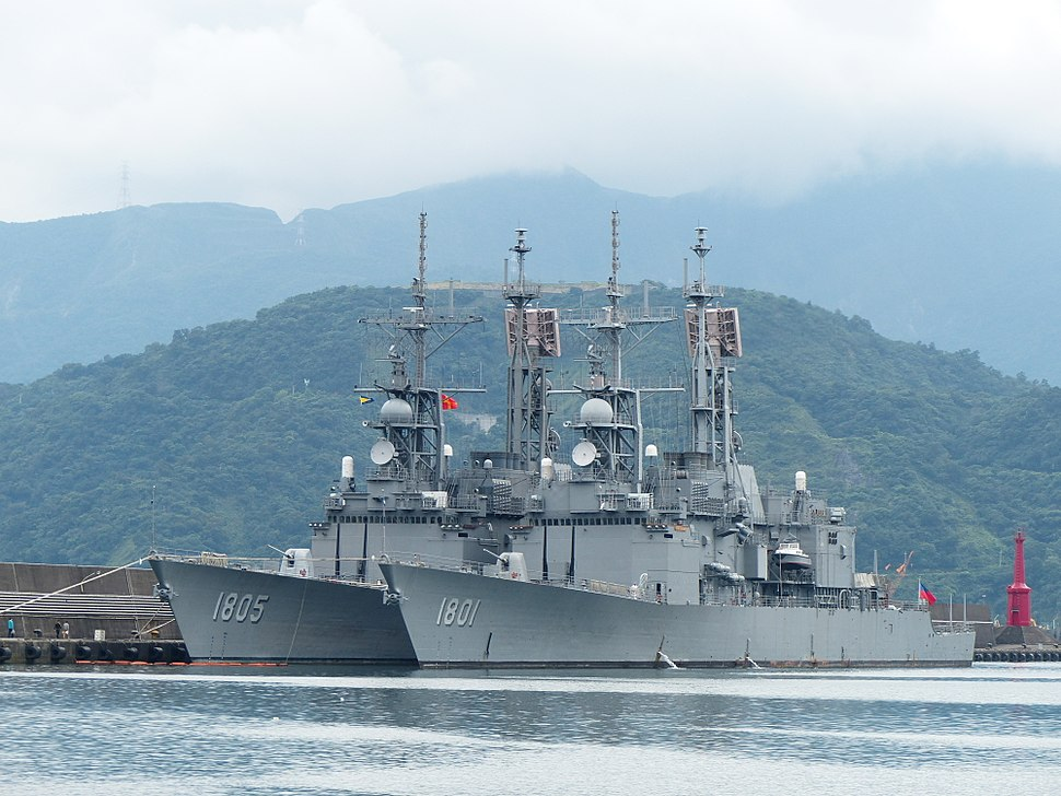 Kee Lung (DDG-1801) and Ma Kong (DDG-1805) shipped in Zhongzheng Naval Base 20130504b