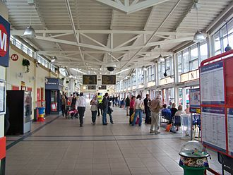 Keighley bus station - Interior of Keighley bus station