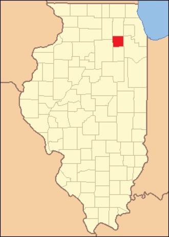 Kendall County, Illinois - Image: Kendall County Illinois 1841