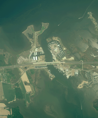 Kent Narrows - Aerial view of the Kent Narrows