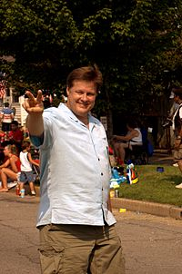 Kevin Zeese Marching in Dundalk Fourth of July Parade.jpg