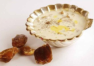 Sweets from the Indian subcontinent - Payas (or Kheer as it is called in Hindi). Recipes for making it are present in the 11th century Mānasollāsa.