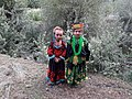 Kids from the ancient Kalash tribe in their local costumes at Kalash valley, Chitral city KPK Pakistan.jpg