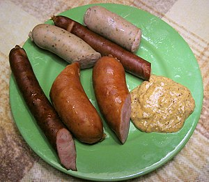 Various types of kielbasa