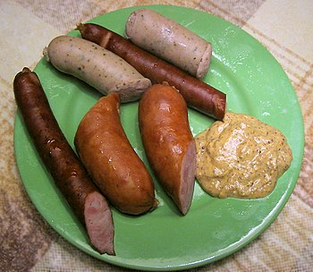 Various kinds of Polish Kielbasa