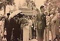 King Bhumibol and Queen Sirikit visiting Wat Chetawan in Malaya, 1962.jpg