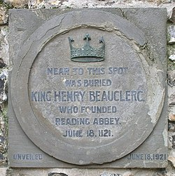 Photo of Henry I stone plaque