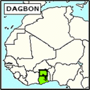 Kingdom of Dagbon - Image: Kingdom of Dagbon (Northern Territories) locator map