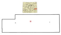 Kiowa County Colorado Incorporated and Unincorporated areas Eads Highlighted.svg