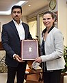 Kirsty Duncan signed an MoU between India and Canada on Sports, in New Delhi.jpg