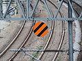 Korea Railway Advance Notice of Deadsection sign.JPG