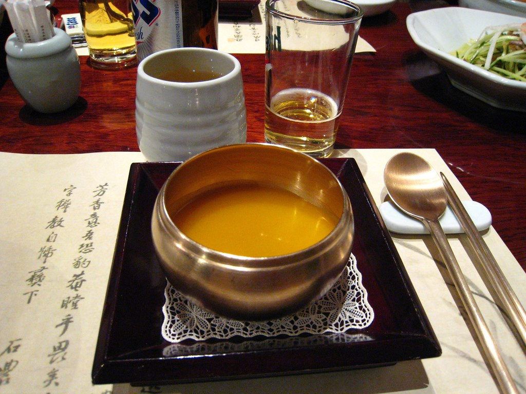 Korean pumpkin porridge-Hobakjuk-01