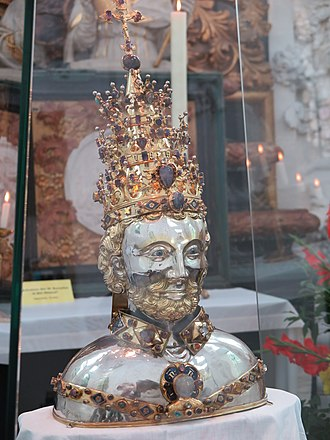 Pope Cornelius - Relic of Pope Cornelius in Kornelimünster