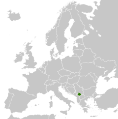 Location of Kosova