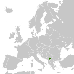 Kosovo's airt in Europe