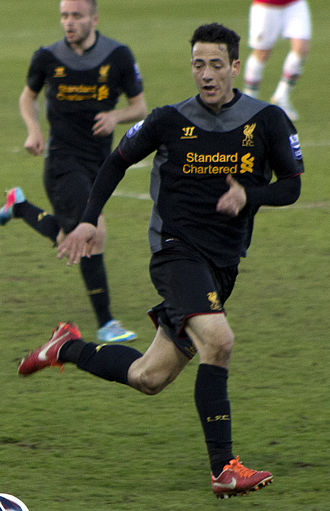 Krisztián Adorján - Adorján playing for Liverpool under-21s in 2012