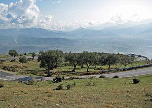 Elbasan County - View of Krraba Pass